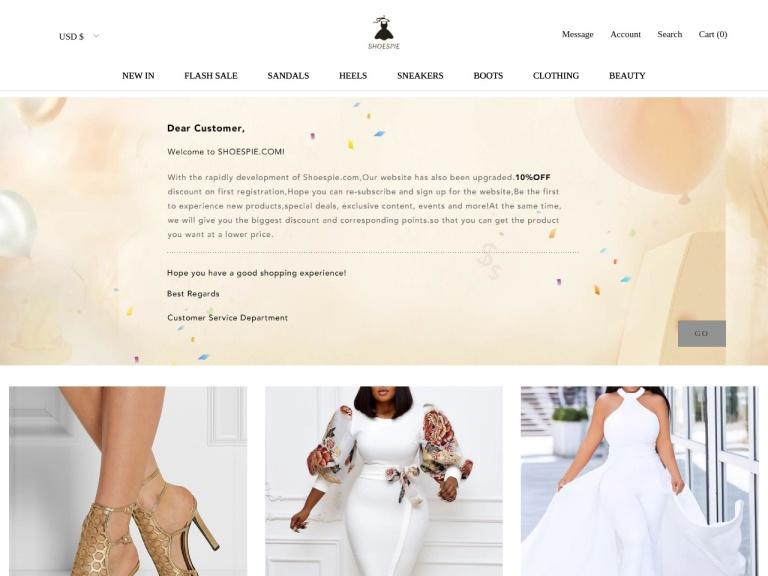 Shoespie UK screenshot