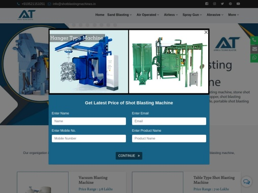 Shot blasting machine manufacturer's in India| Portable shot blasting machine in India price