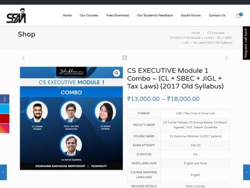 CS video lecture online | CS executive module 1 video lecture combo online