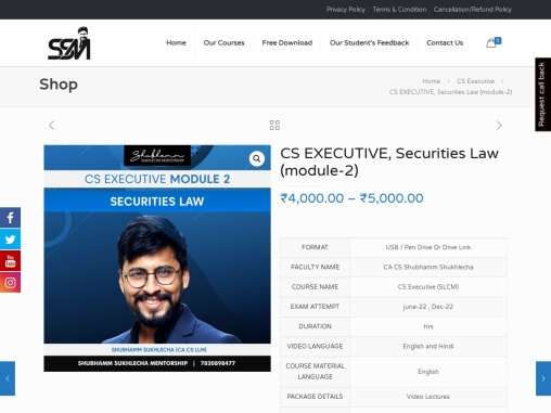 Security law online courses   CS Security law online classes   Best online classes for CS executive
