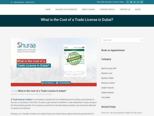What is the Cost of a Trade License in Dubai