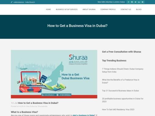 How to a get Dubai Business Visa