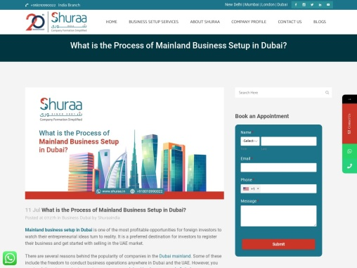 What is the Process of Mainland Business Setup in Dubai?