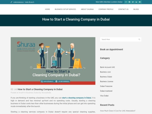 How can I start a cleaning company in Dubai?