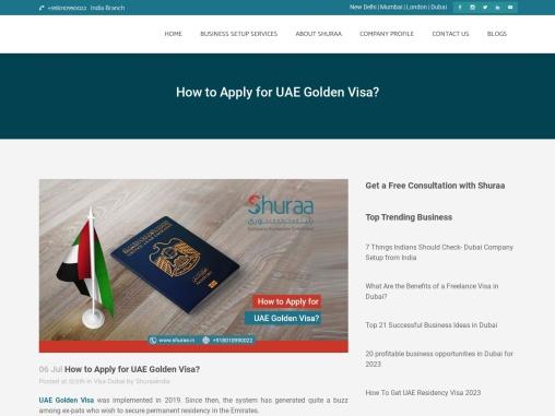How to Apply for UAE Golden Visa?