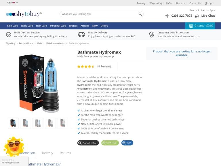 Bathmate Hydromax Pump screenshot