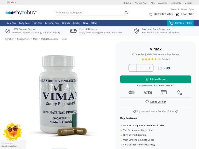 Vimax screenshot