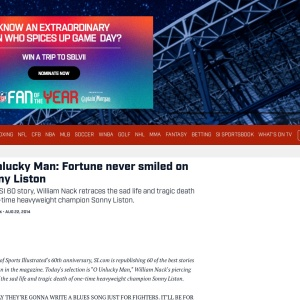 O Unlucky Man: Fortune never smiled on Sonny Liston | SI.com