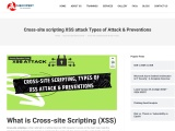 Cross-site scripting XSS attack Types of Attack & Preventions