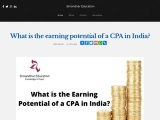 What is the Earning Potential of a CPA in India | Simandhar Education