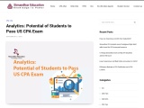 Analytics: Potential of Students to Pass US CPA Exam