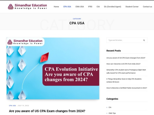 US CPA Blogs | US CPA Course | CPA USA Course details
