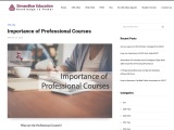 Importance of Professional Courses | Simandhar Education