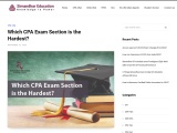 Which CPA Exam Section is the Hardest? – Simandhar Education