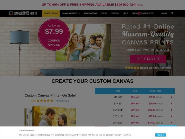 Simple Canvas Prints screenshot