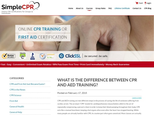 WHAT IS THE DIFFERENCE BETWEEN CPR AND AED TRAINING?