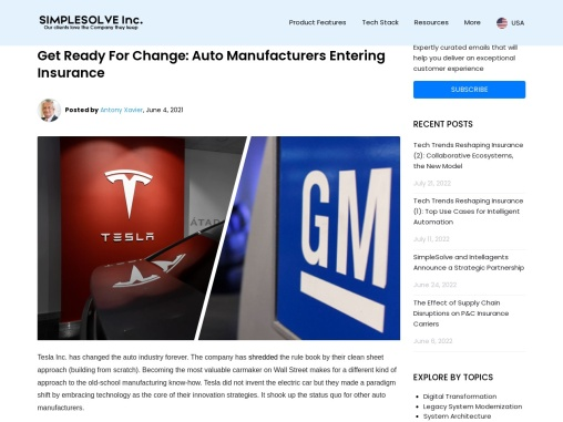 Get Ready For Change: Auto Manufacturers Entering Insurance