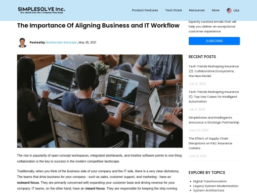 The Importance Of Aligning Business and IT Workflow