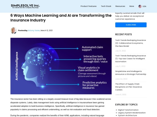6 Ways Machine Learning and AI are Transforming the Insurance Industry
