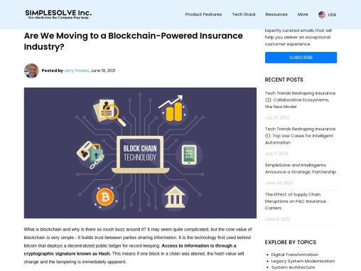 Are We Moving to a Blockchain-Powered Insurance Industry?