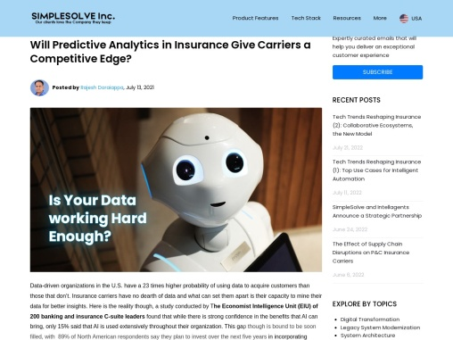 Will Predictive Analytics in Insurance Give Carriers a Competitive Edge?