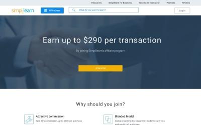 SimpliLearn Website Preview