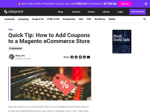 How to Add Coupons to a Magento eCommerce Store