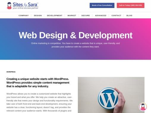 🥇 Salt Lake City Website Design | Utah Web Design Agency | Web Design SLC | Sites by Sara