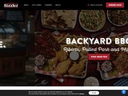 Sizzler.com screenshot