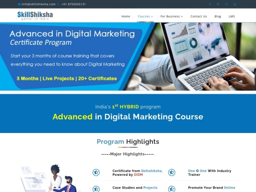 Shiksha – Advanced in Digital Marketing Course