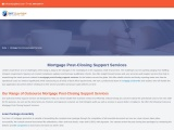 Mortgage Post-Closing Support Services