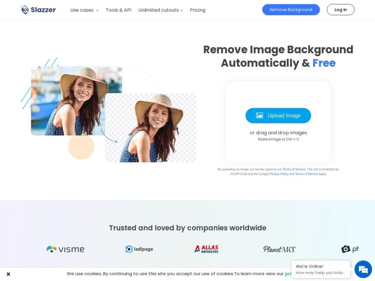 slazzer.com screenshot