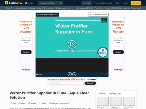 Water Purifier Supplier in Pune – Aqua Clear Solution