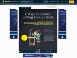 4 Ways to reduce sitting time at work | Wooden Laptop Stand for Desk