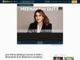 Join Online Makeup Courses in Delhi | Meenakshi Dutt Makeovers Academy