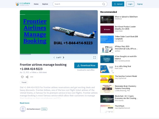 Frontier Airlines Manage Booking +1-844-414-9223