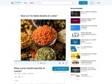 What are the health benefits of Lentils?