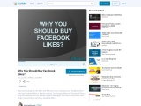 Why You Should Buy Real Facebook Likes?
