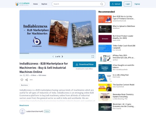 IndiaBizzness – B2B Portal of Machinery Manufacturers Suppliers Buyers Wholesale Traders