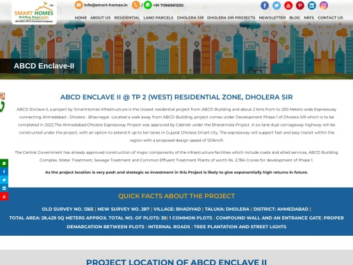 Residential Plots at ABCD Enclave II in Dholera SIR Town Planning 2