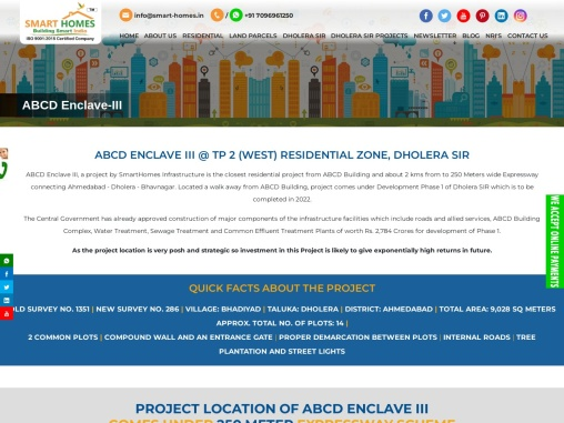 ABCD ENCLAVE III Residential Plots For Sale @ Dholera SIR