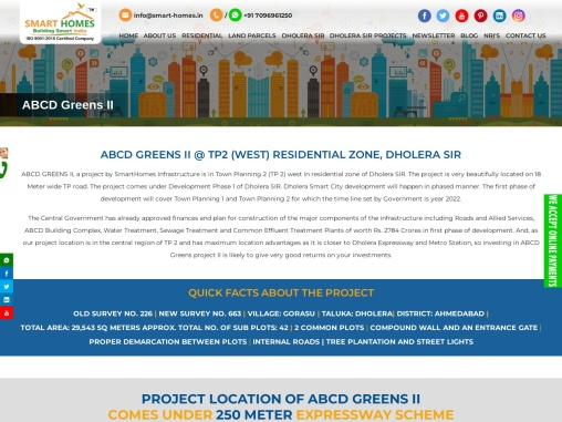 Abcd Greens II In Tp 2 Residential Zone, Dholera Sir