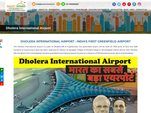 Dholera International Airport in India's First Greenfield Airport in Dholera SIR