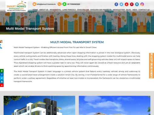 Multi Model Transport System Developing in Dholera Smart City