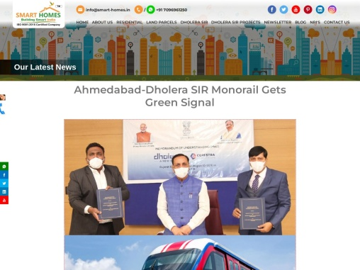 Govt. approved Ahmedabad Dholera Monorail Project