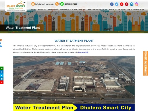 Water Treatment Plant & Water Reservoir at TP1 in Dholera SIR