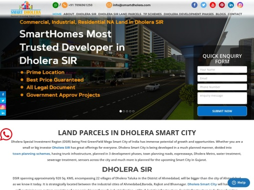 Dholera Smart City Residential, Commercial, Industrial Land By Smart Dholera
