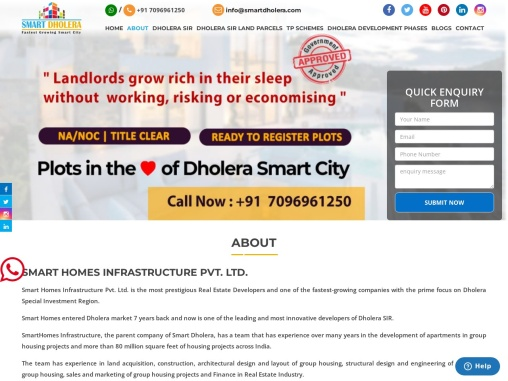 Dholera Smart City Town Planning Schemes In India