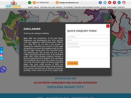 Industrial Plot On 250 meter Expressway, Dholera Smart City