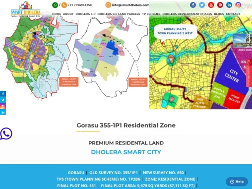 9679 Sq. Yards Land For Sale in Dholera SIR Residential Zone